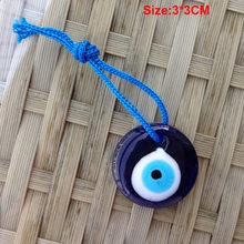 Lampwork แก้วตุรกี Evil Eye Charm จี้รถบ้าน Amulet ตุรกีเครื่องประดับทำสร้อยข้อมือสร้อยข้อมือ DIY Charms(China)