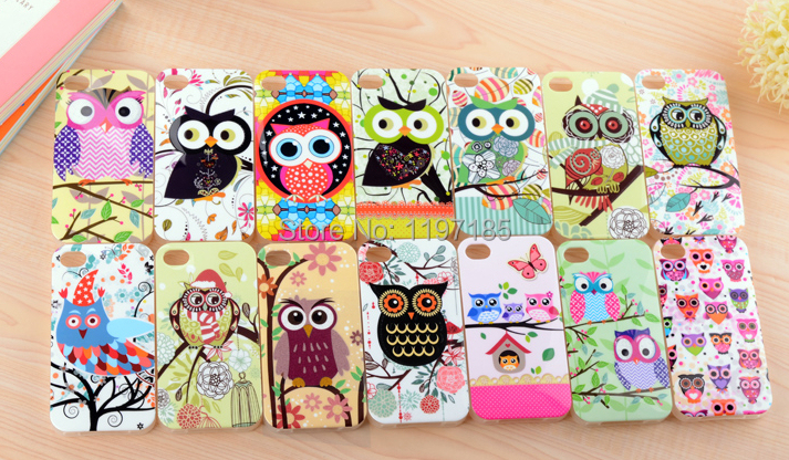 Lovely Cute Owl Pattern Cartoon Soft TPU rubber Back Cover Case iPhone 5 5S 4 4s - Baya International Limited store