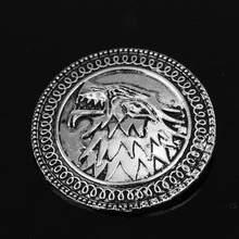 Game Of Thrones Stark Spilla Canzone Del Ghiaccio E del Fuoco Vintage Antico Dire Lupo Shield Spille Spille Per Le Donne di Moda accessori(China)