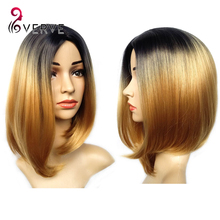 ombre synthetic wigs cheap short blonde wigs synthetic sexy female short haircut wigs Nice natural looking women wigs cosplay(China (Mainland))