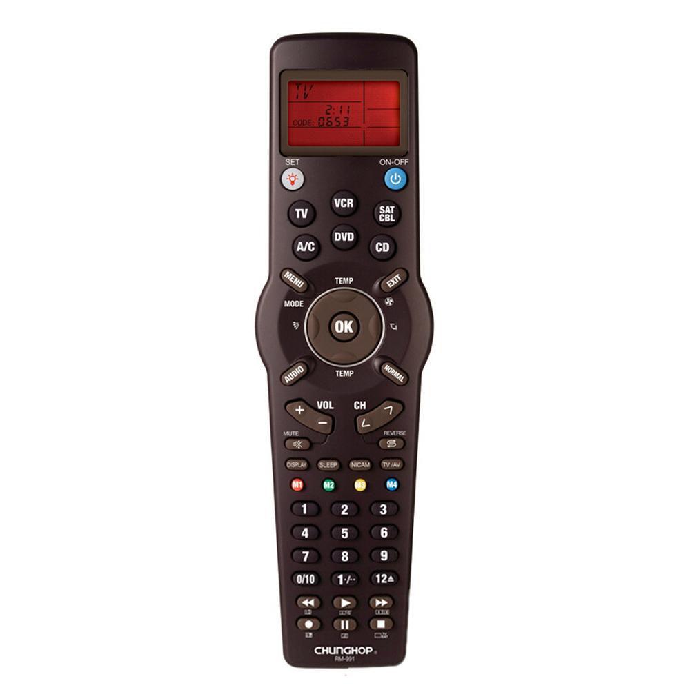 Hot Sale Chunghop RM-991 TV/SAT/DVD/CBL/CD/AC/VCR Universal Remote Control Chunghop RM991 CCAC Multifunction Remote Control(China (Mainland))