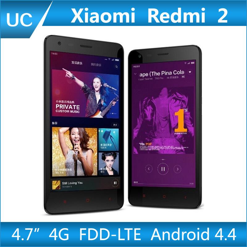 "Original Xiaomi Redmi 2 Hongmi 2 MSM8916 Quad Core 4G FDD LTE WCDMA Android 4.4 1G RAM 4.7"" Gorilla IPS Red Rice 2 Mobile Phone(China (Mainland))"