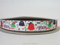 "5/8"" 16mm Halloween Ribbon Hallowmas Printed Grosgrain Ribbon Hair Bows P041"