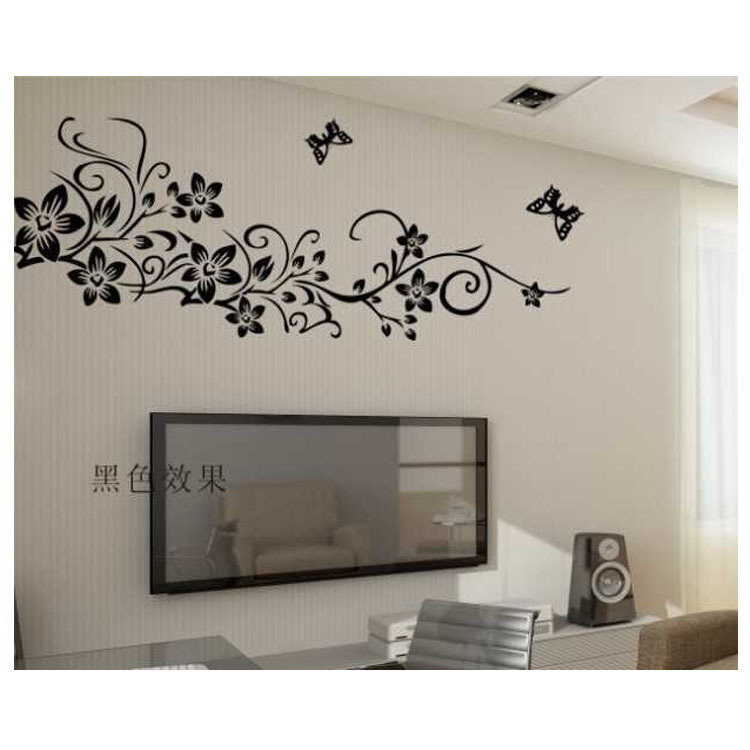 AY954 black PVC transparent matte film the third generation removable wall stickers of three generations(China (Mainland))
