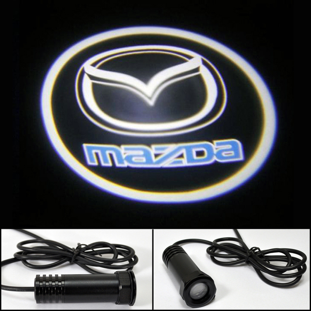 Auto Ghost Shadow Car LED door lights for Mazda 6 Mazda 3 CX5 CX7 LOGO Decoration door prejection welcome light HK Post Free