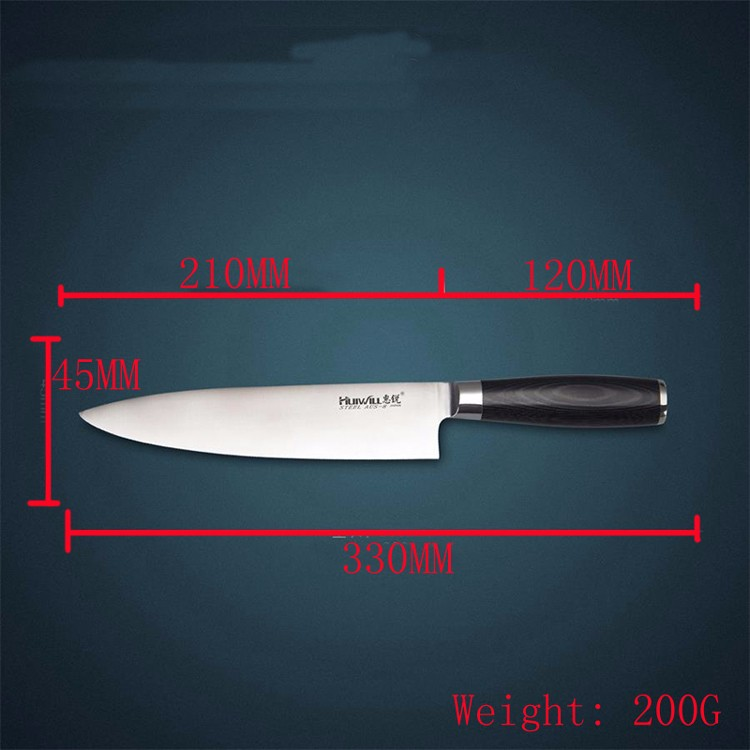 """Buy 8"""" inches chef knife High quality 73 layers Japanese VG10 Damascus steel kitchen chef knife sharp hard wood handle free shipping cheap"""