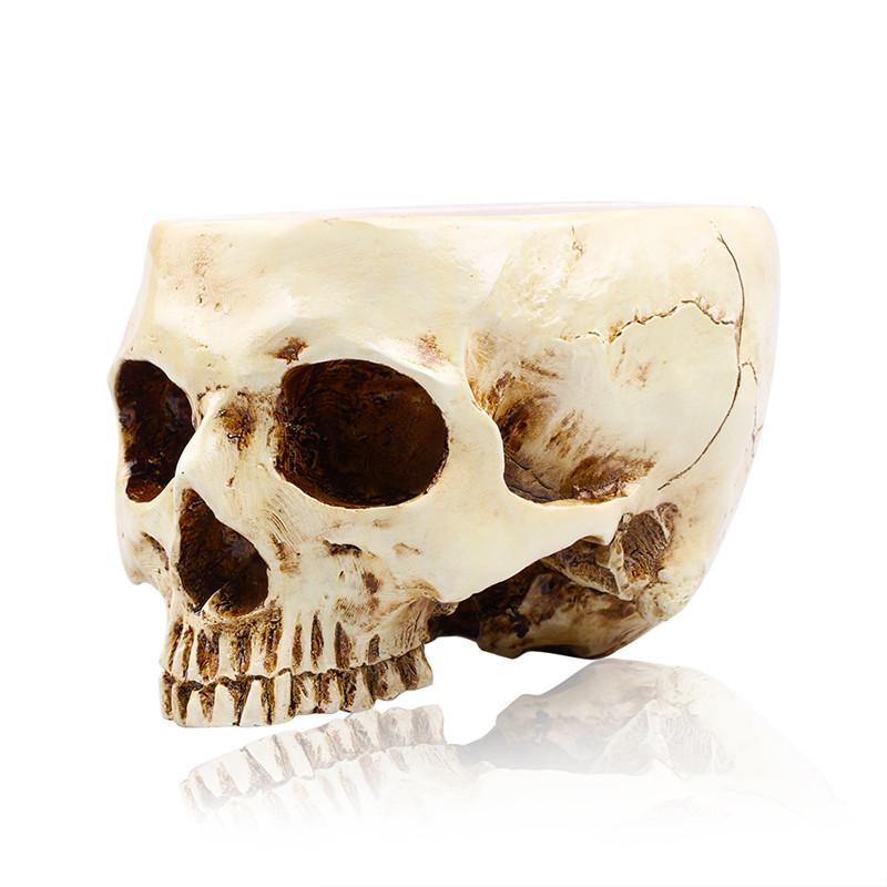 p flame human skull flower pot multifunctional storage