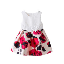 bebe dress infant tutu dress Fashion European and American sarafan Style Girls Children Dress BoBo Choses Floral Dress MW2119S