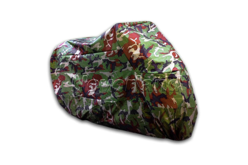 Motorcycle Covering Waterproof Dustproof Scooter Cover UV resistant Heavy Racing Bike Cover Camouflage 265 x 105 x 125cm XXL C10(China (Mainland))