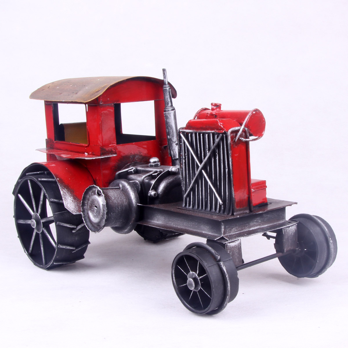 American vintage tent car tractor iron crafts car model toy(China (Mainland))