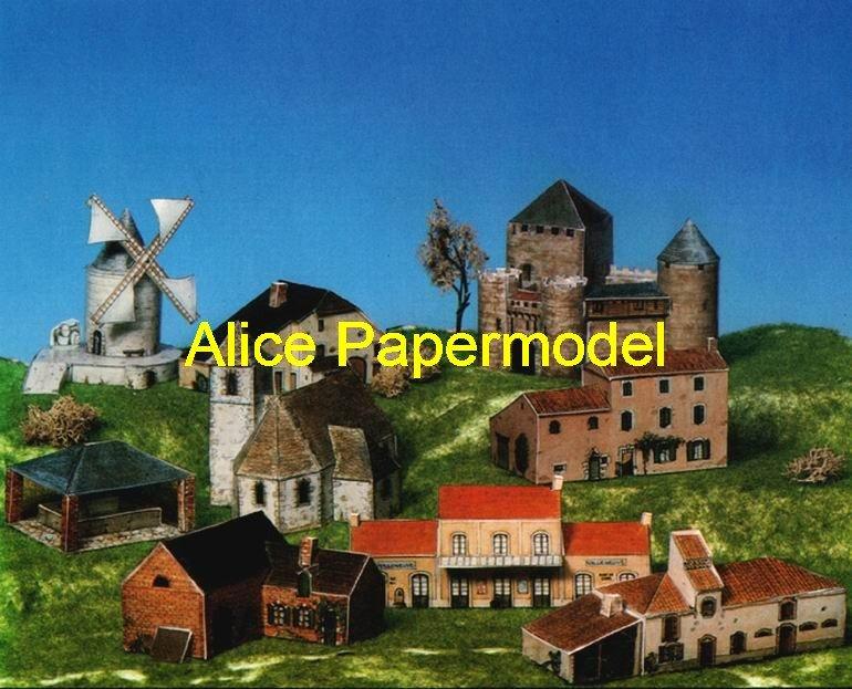 Europe model house