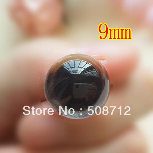 fress ship!!! 100pairs 9mm transparent soft toy eyes animal bear sock creature monkey making crafts(China (Mainland))