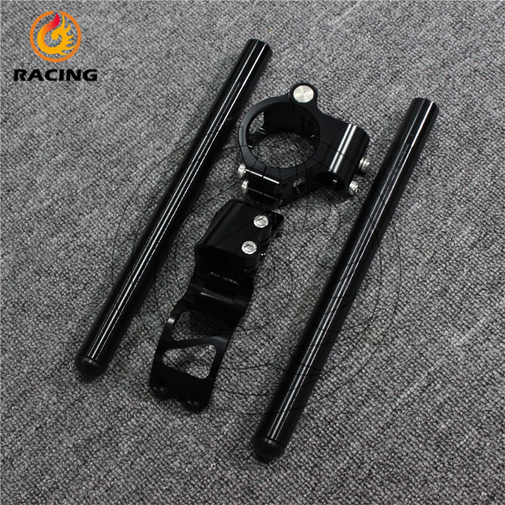 good quality 50mm clip on handle bars black color motorcycle clip on handlebars FOR SUZUKI GSXR1300BUSA <br><br>Aliexpress