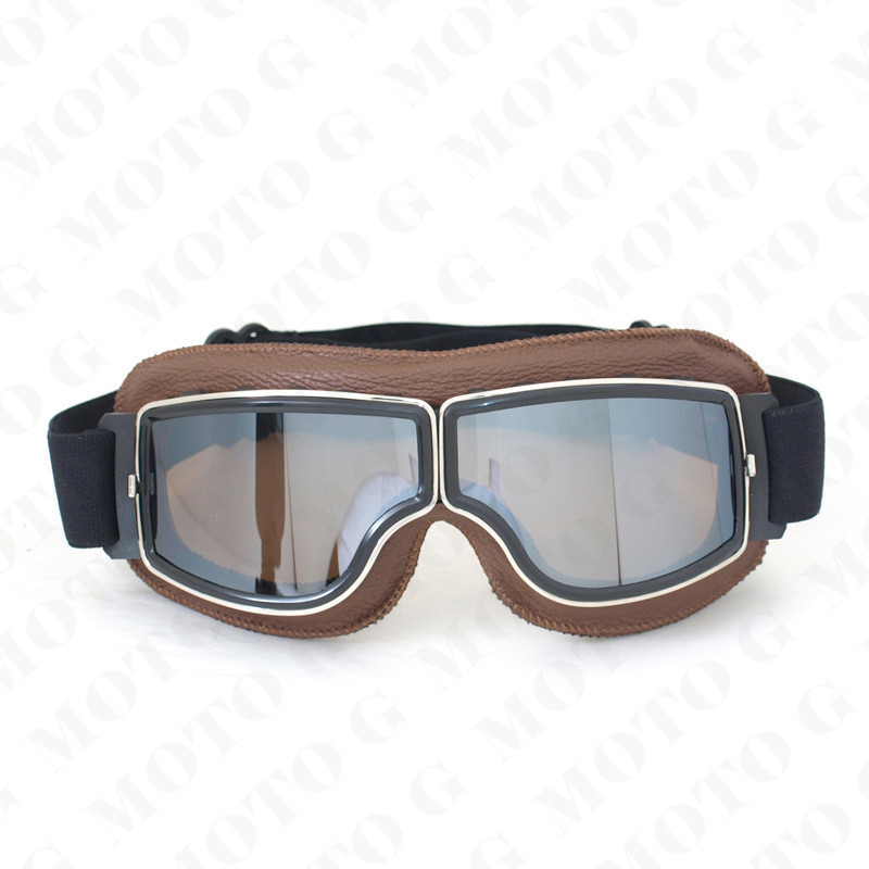 2015 NEW Arrival WWII Vintage Harley style motorcycle goggles, Pilot Motorbike goggles, Retro Jet Helmet Eyewear 4 color lens(China (Mainland))