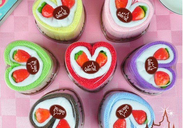 #126 Free shipping Wholesale-10pcs/lot wedding cute lover cake towel,promotional gifts,gift towellover cake promotion(China (Mainland))