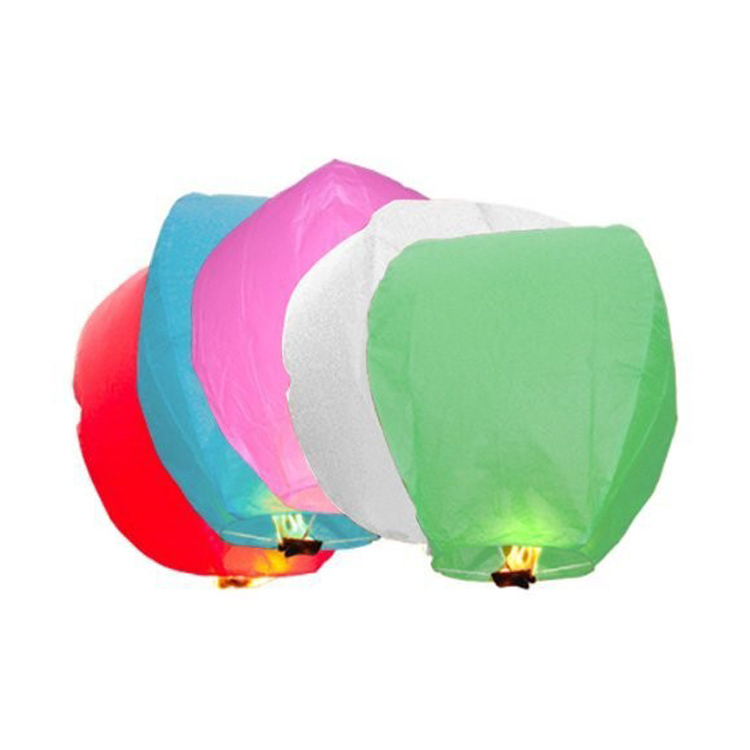 Diy 10Pcs Chinese Sky Paper Lanterns Lamps Flying Wishing Lantern Decor For Outdoor Party Decoration Balloon UFO Assorted Color(China (Mainland))