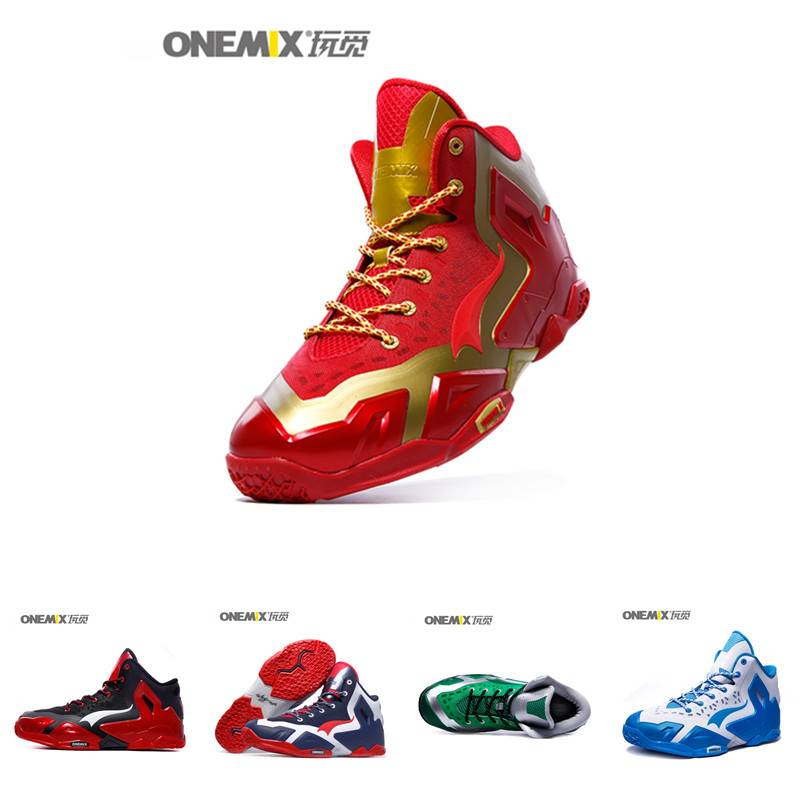 Onemix lebronlys XII elite 12 Men Basketball Shoes 7 Colors Breathable Anti-collision Technology Sneakers For Male Sports Shoes(China (Mainland))