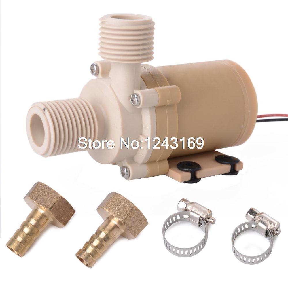 DC 12V Solar Hot Water Circulation Pump Brushless Motor Water Pump 480L/H TE089(China (Mainland))