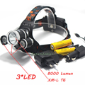 2016 new 8000 Lumen XM L T6 LED Headlamp Hunting 4 Mode Head Light Lamp LED