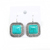 Blue Stone Drop Earrings for Women Silver Large Leverback Earrings with Stone Fashion Jewelry Womens Accessories ers-g42