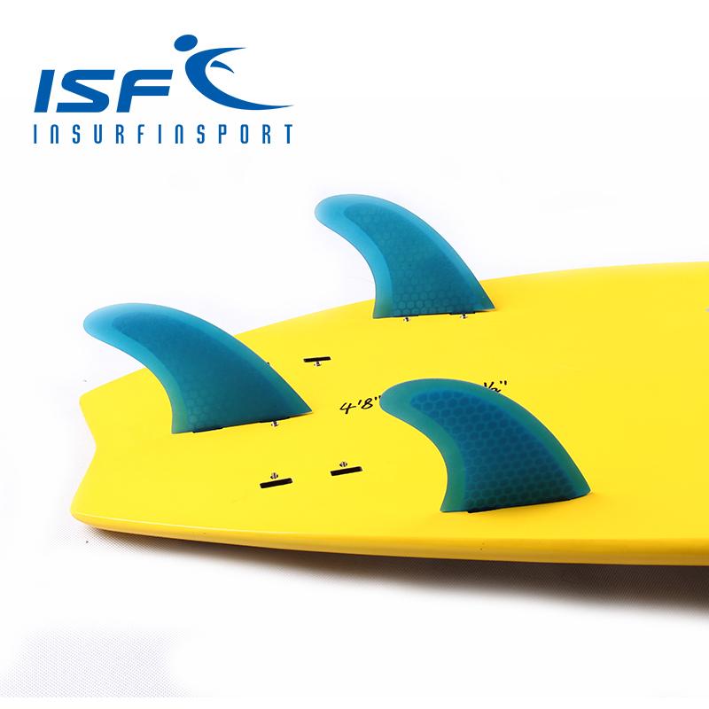 Blue FCS surfboard fins quilhas de prancha de surf fin longboard paddle surfboard four Quad future center carbonfiber fins(China (Mainland))