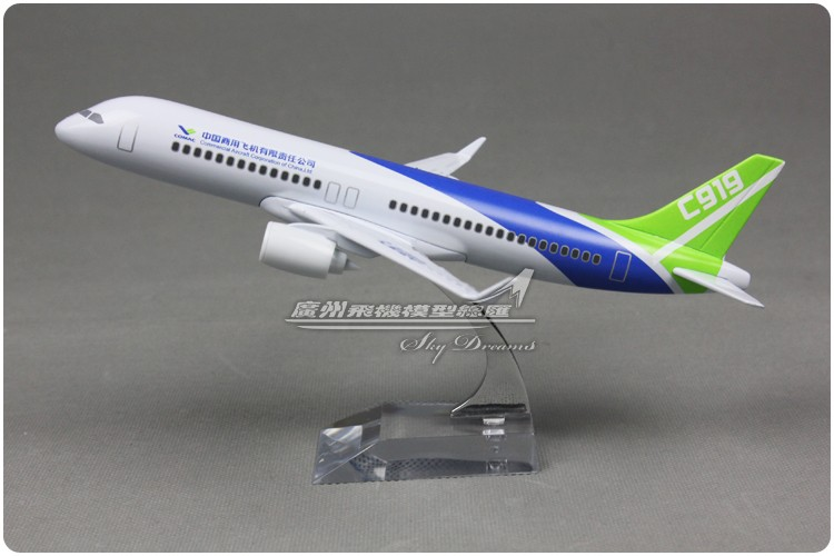 20cm Metal Model Plane Air China Commercial Aircraft C919 Airlines Airplane Model Airways w Stand Aircraft Toy Gift(China (Mainland))