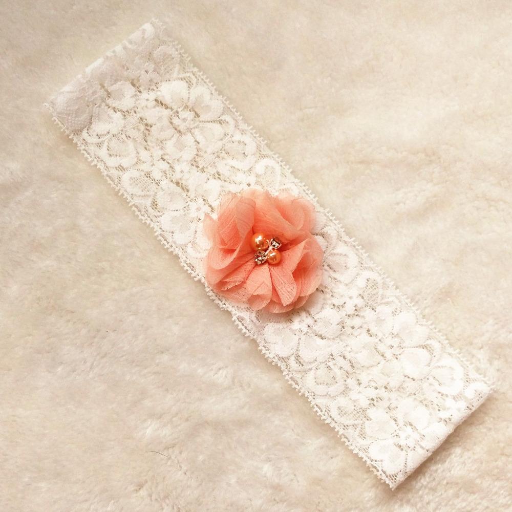 1 pcs wedding garter white bridal lace garter chiffon flower toss garter included vintage inspired lace
