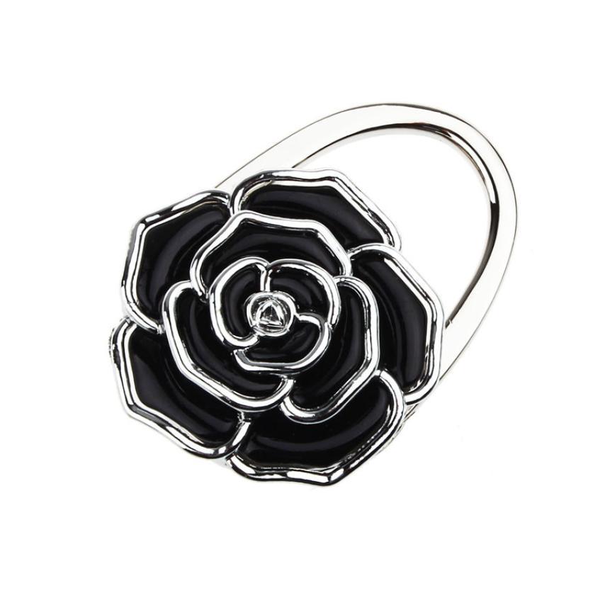 Portable Folding Handbag Rose Hook Hanger Holder Bag Locking Device handbag Bag Parts &amp; Accessories<br><br>Aliexpress
