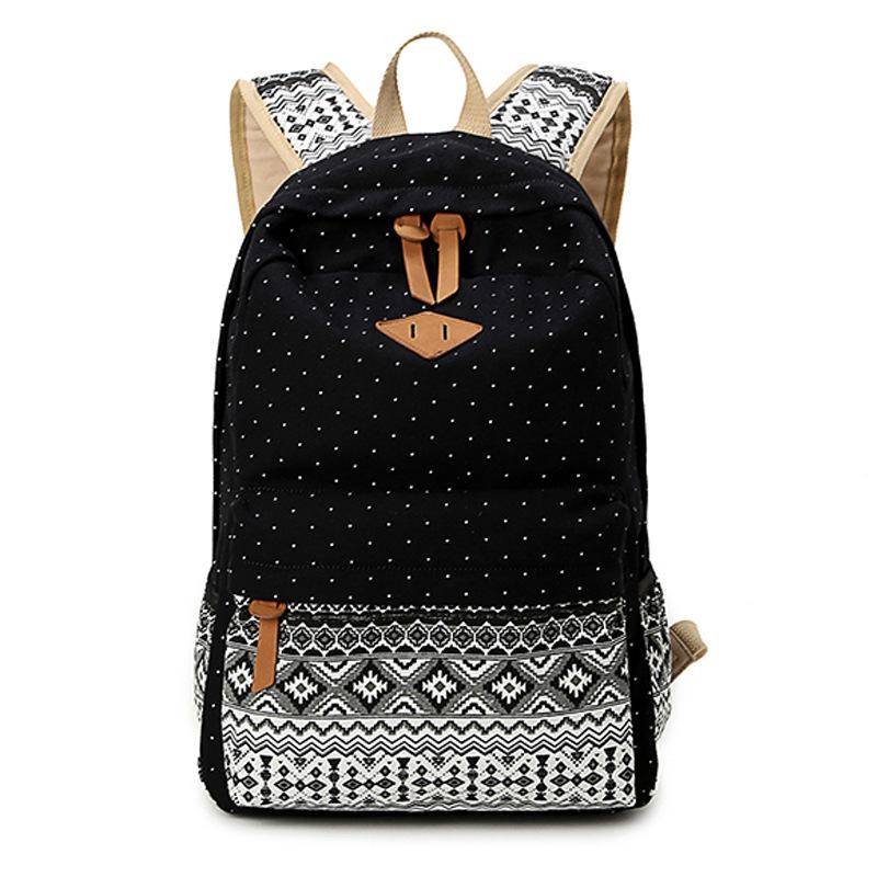 Korean Canvas Printing Backpack Women School Bags for Teenage Girls Cute Bookbags Vintage Laptop Backpacks Female(China (Mainland))