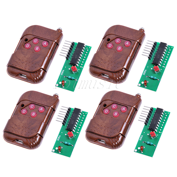 4sets Quality 4 Channel 315MHZ RF Radio Wireless Controller Module Remote Control NEW(China (Mainland))