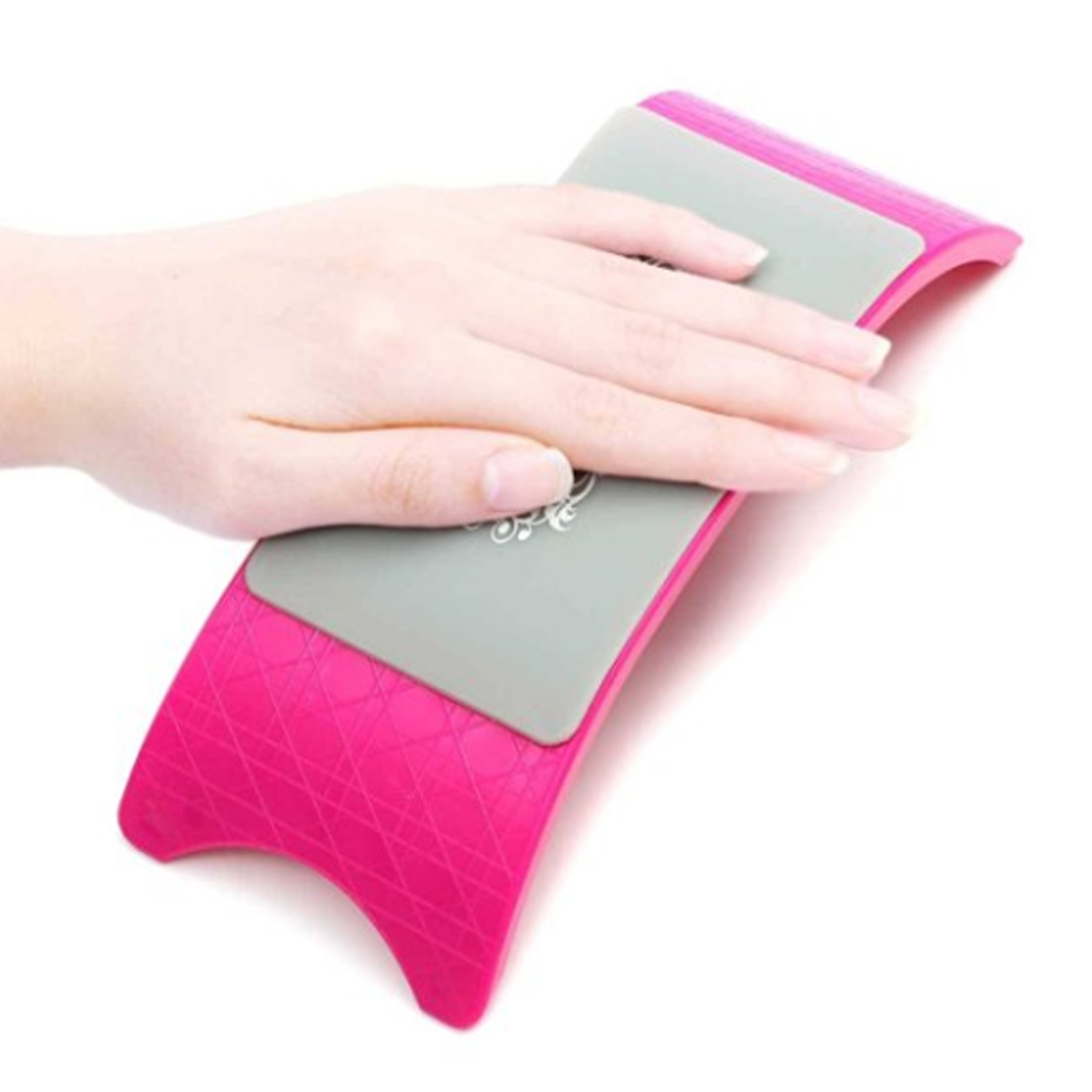 Comfortable Nail Arm Rest Nail Art Pillow Hand Holder Cushion Pad Manicure Mat Rose Red
