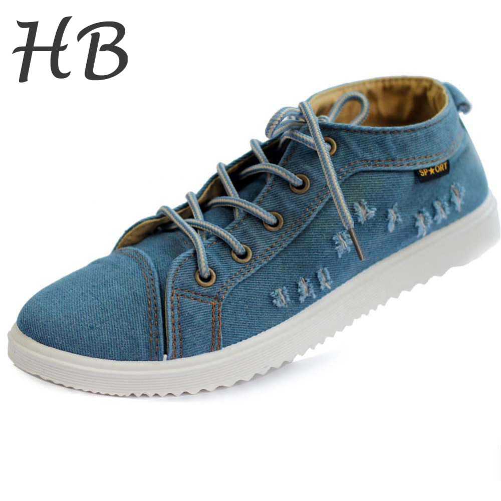 New Product Spring And Summer Sneakers Men Shoes Non-Slip Breathable Cowboy Canvas Casual Sport Shoes Low Platform Sneakers