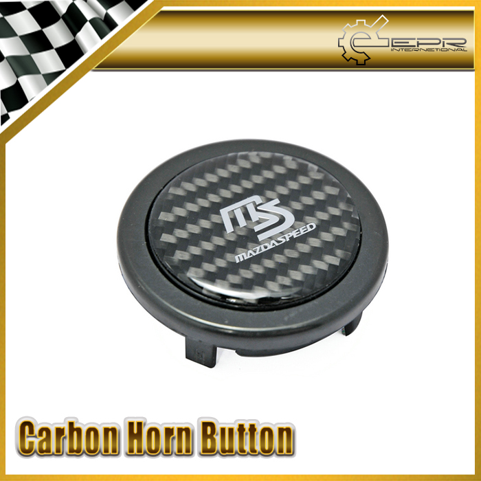 New Car Styling For Mazda Mazdaspeed Real Carbon Fiber Steering Wheel Push Horn Button<br><br>Aliexpress