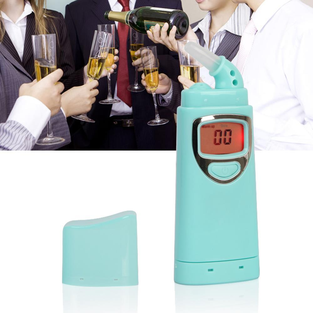 10pcs Blue Digital Breath Alcohol Tester Breathalyzer Alcotest Individual Alcohol Drunk Driving Tester Car Gadget Alkohol Tester(China (Mainland))
