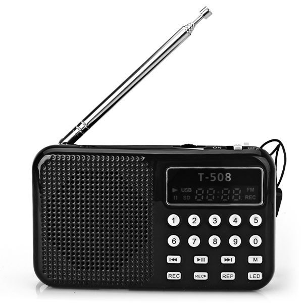 New Mini Portable Speaker With LED Display Screen FM Radio With USB 2 0 Cable Support