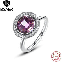Buy New Collection 925 Sterling Silver Brilliant Legacy Stackable Rings Pink & Clear CZ Ring Compatible VRC Jewelry HJ7150 for $15.02 in AliExpress store