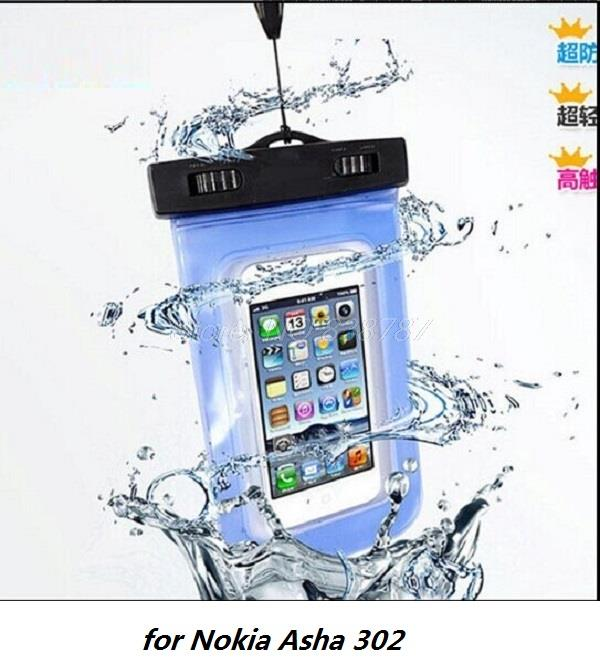 Luxury Fashion workout Waterproof Durable Water proof phone Bag Underwater back cover pouch Case for Nokia Asha 302(China (Mainland))