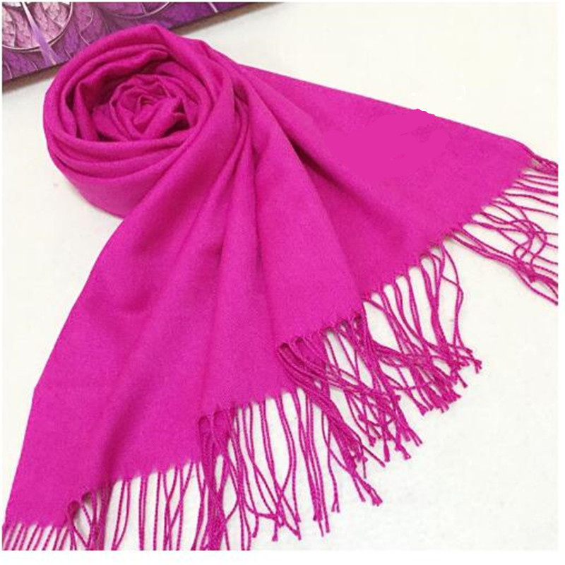 Sexy Women Girls Cashmere Blend Scarves Solid Shawl Creative Tassel Scraf Autumn Winter Outdoor Riding Wrap Hijabs 16 color 2016(China (Mainland))