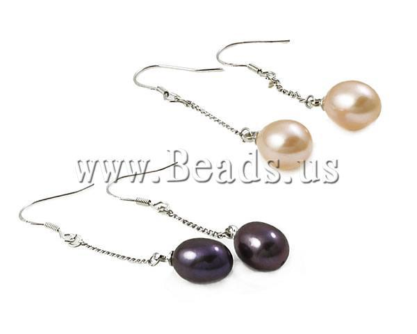 Free Shipping!!!   Natural Freshwater Pearl Drop Earrings, mixed color, with brass hook, box packed, Sold by Box<br><br>Aliexpress