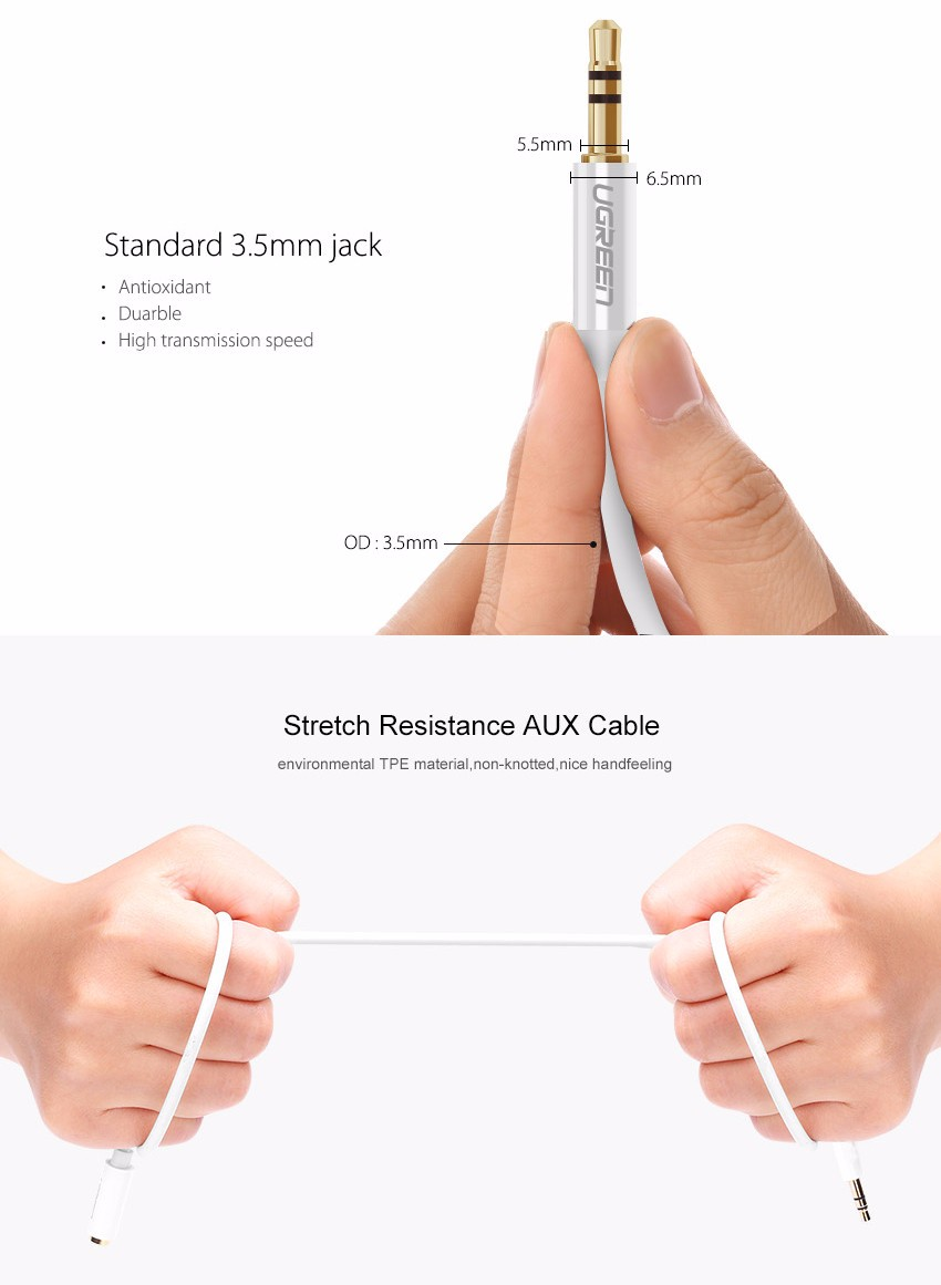 Jack 3.5mm Audio Extension Cable Hifi Stereo Male to Female Aux Headphone Extension Cable Adapter for iPhone 6 6S MP3 /4 HZSP070