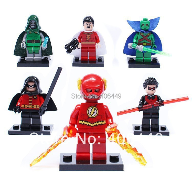 DECOOL 0128-0133 Super Heroes Flash/Night Wing /Doctor Doom/Robin DIY Bricks Toys Compatible Minifigure Lego - WZ import and Export Co., Ltd. store