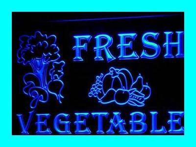 i260-b OPEN Fresh Vegetable Shop Lure LED Neon Light Sign Wholesale Dropshipping(China (Mainland))