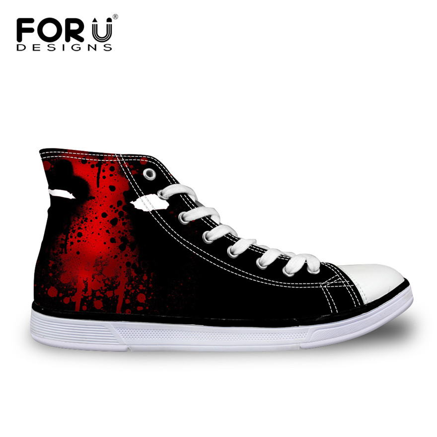 Men Shoes New 2016 Fashion Super Hero Deadpool Printed Shoes Casual Outdoor Sport High-Top Shoes Male Canvas Shoes Flat Sapatos