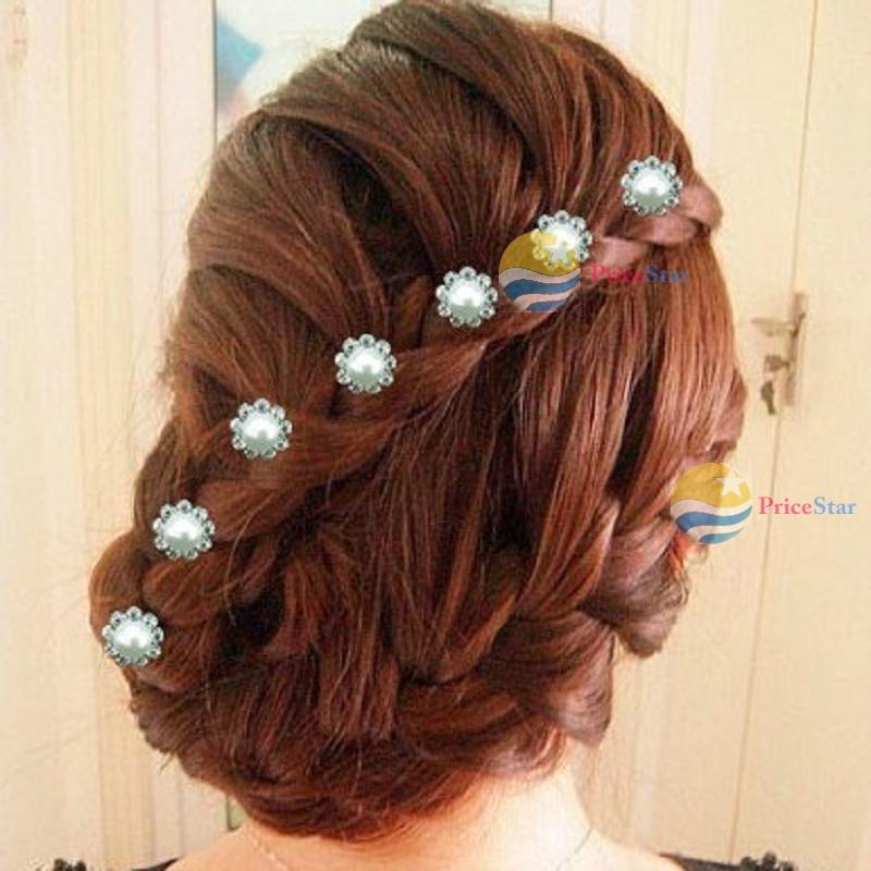 PriceStar Great deal 1 Pcs 2PCS 3 PCS 10PCS U-shaped Girl Lady Crystal Rhinestone Wedding Bridal Flower Hair Clip Hairpin Featur(China (Mainland))