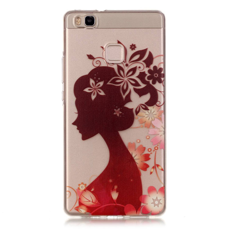 1 Huawei P9 Lite/G9 transparent high clear tpu back case, cartoon girl patinted soft silicon cover g9  -  RayCooN store