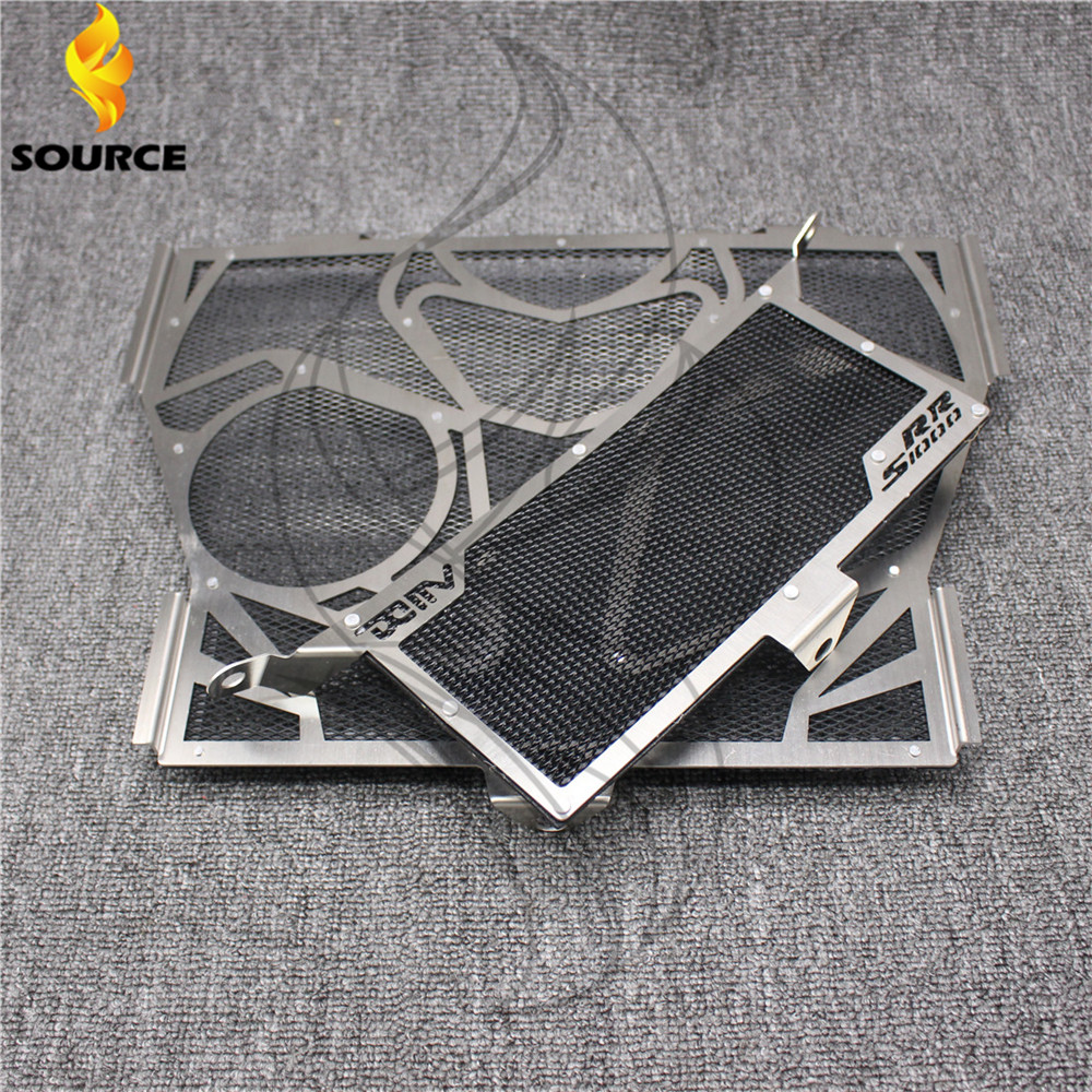 Фотография brand new motorcycle accessories stainless steel radiator guard protector grille grills cover  black For BMW S1000RR