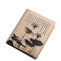 Famous Brand New Short Wallet Women Designer Chinese Style Print Change Purse Ladies Retro Fashion Contracted