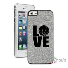 For iphone 4/4s 5/5s 5c SE 6/6s 7 plus ipod touch 4/5/6 back skins mobile cellphone cases cover Glitter Bling Love Basketball