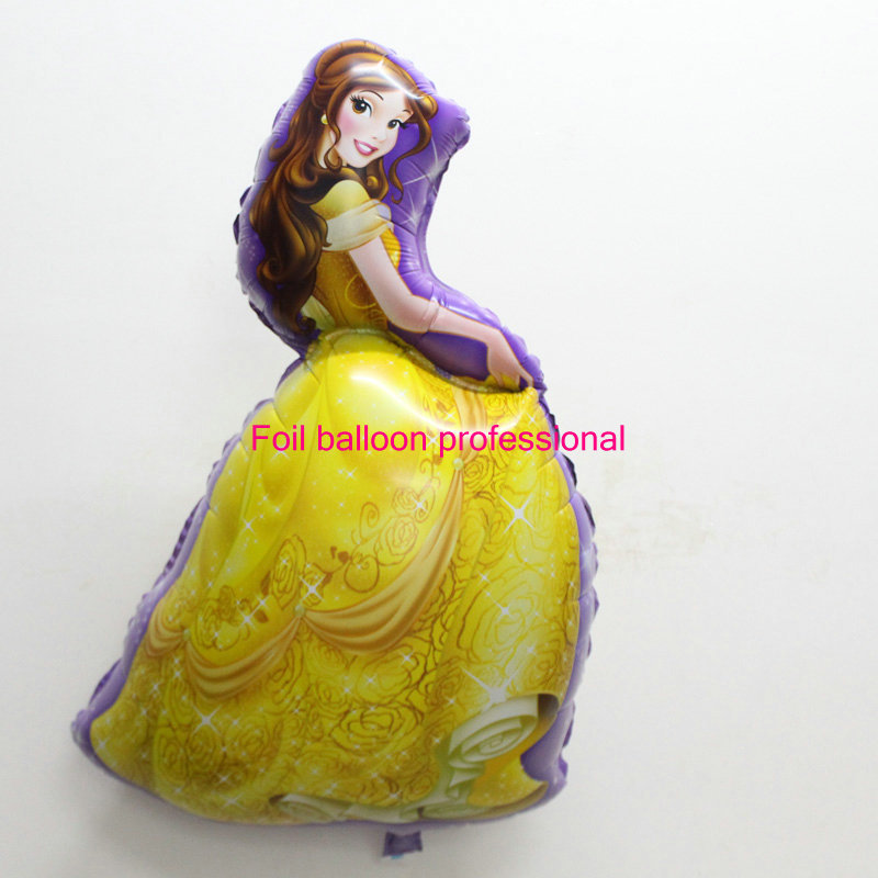 Best quality 1pcs/lot foil balloon belle mylar ballon princess baloes helium ballon wedding decoration globes(China (Mainland))