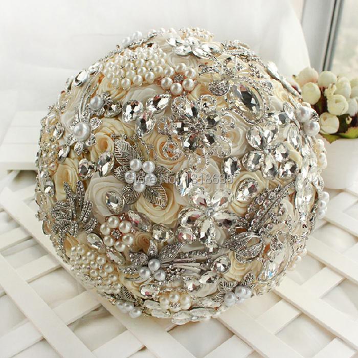 cerca artesanal para jardimMuito artesanal de luxo Bouquet de noiva
